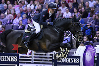 OMAHA, NEBRASKA - APR 2: Simon Delestre rides Chadino during the Longines FEI World Cup Jumping Final at the CenturyLink Center on April 2, 2017 in Omaha, Nebraska. (Photo by Taylor Pence/Eclipse Sportswire/Getty Images)