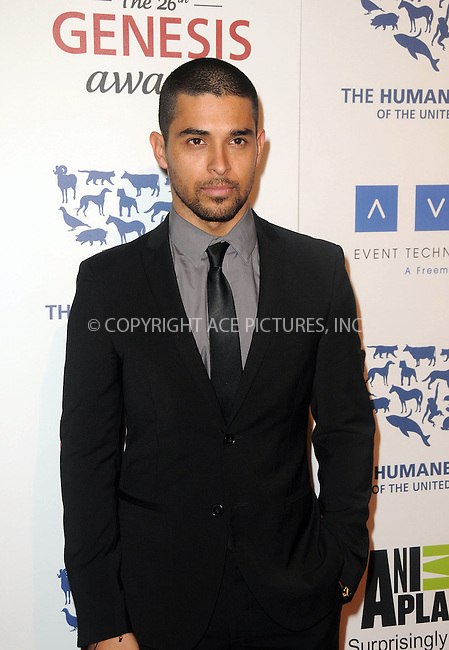 WWW.ACEPIXS.COM . . . . .  ....March 24 2012, LA....Wilmer Valderrama arriving at the 26th Annual Genesis Awards at The Beverly Hilton Hotel on March 24, 2012 in Beverly Hills, California. ....Please byline: PETER WEST - ACE PICTURES.... *** ***..Ace Pictures, Inc:  ..Philip Vaughan (212) 243-8787 or (646) 769 0430..e-mail: info@acepixs.com..web: http://www.acepixs.com