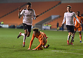 04/12/2018 FA Youth Cup 3rd Round Blackpool v Derby County<br /> <br /> Sean Graham fouled