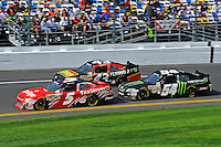 Dale Earnhardt, Jr. (#5), Michael Annett (#43) and Kyle Busch (#54)