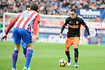 Atletico de Madrid's Sime Vrsaljko and Valencia CF's Fabian Orellana during La Liga match between Atletico de Madrid and Valencia CF at Vicente Calderon Stadium  in Madrid, Spain. March 05, 2017. (ALTERPHOTOS/BorjaB.Hojas)