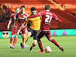 Gaston Ramirez of Middlesbrough strikes towards goal to score his second goal of the game - Sky Bet Championship - Middlesbrough vs Wolverhampton Wanderers - Riverside Stadium - Middlesbrough - England - 4th of March 2016 - Picture Jamie Tyerman/Sportimage