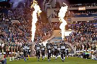 November 08, 2012:   Jacksonville Jaguars quarterback Blaine Gabbert (11) leads the Jaguars on the field before the start of the NFL game between the Indianapolis Colts and the Jacksonville Jaguars  played at EverBank Field in Jacksonville, Florida.   ........
