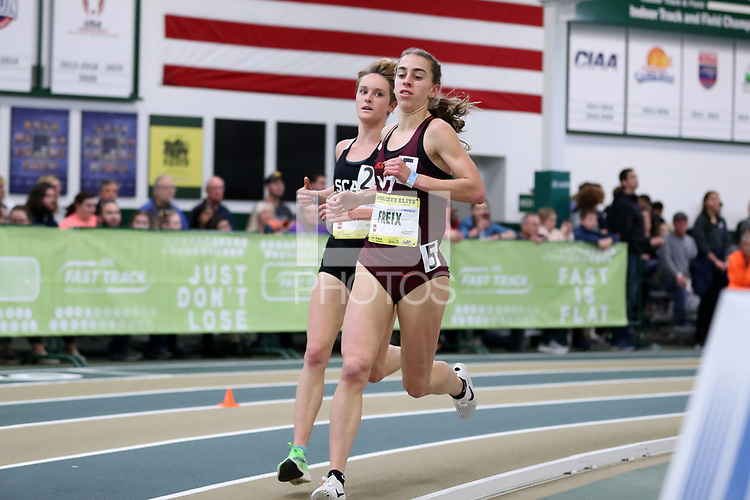 WINSTON-SALEM, NC - FEBRUARY 08: Sara Freix #5 of Virginia Tech runs in the Women's Camel City Elite 3000 Meters at JDL Fast Track on February 08, 2020 in Winston-Salem, North Carolina.