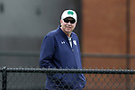 WINSTON-SALEM, NC - MARCH 17: Notre Dame head coach Jay Louderback. The Wake Forest University Demon Deacons hosted the University of Notre Dame Fighting Irish on March 17, 2017, at Wake Forest Tennis Center in Winston-Salem, NC in a Division I College Women's Tennis match. Notre Dame won the match 4-1.