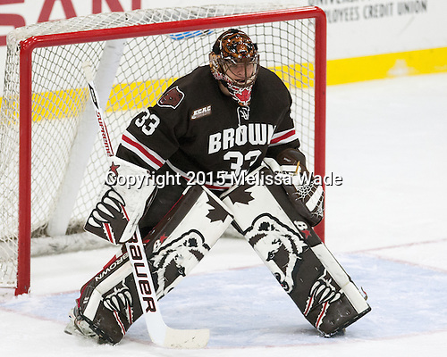 Tim Ernst (Brown - 33) - The Harvard University Crimson defeated the visiting Brown University Brown Bears 5-2 (EN) on Saturday, November 7, 2015, at Bright-Landry Center in Boston, Massachusetts.