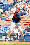 6 March 2006: Larry Broadway, first baseman for the Washington Nationals, at bat during a Spring Training game against the Los Angeles Dodgers. The Nationals and Dodgers played to a scoreless tie at Holeman Stadium, in Vero Beach Florida...Mandatory Photo Credit: Ed Wolfstein..