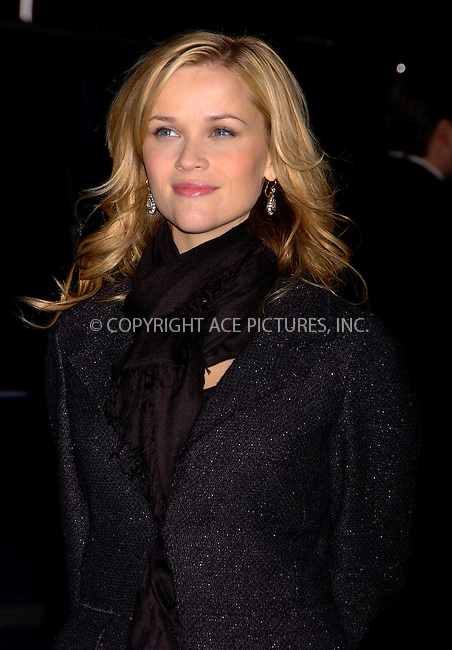 WWW.ACEPIXS.COM . . . . .  ....NEW YORK, JANUARY 8 2006......Reese Witherspoon at the 2005 New York Critics Circle 71st Annual Awards dinner held at Cipriani.....Please byline: AJ Sokalner - ACEPIXS.COM.... *** ***..Ace Pictures, Inc:  ..Philip Vaughan (212) 243-8787 or (646) 769 0430..e-mail: info@acepixs.com..web: http://www.acepixs.com