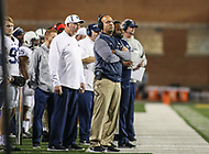 College Park, MD - November 25, 2017: Penn State Nittany Lions head coach James Franklin during game between Penn St and Maryland at  Capital One Field at Maryland Stadium in College Park, MD.  (Photo by Elliott Brown/Media Images International)