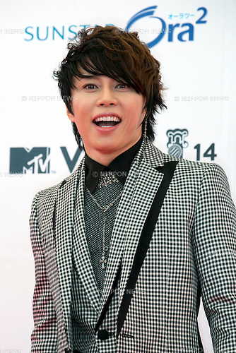 Takanori Nishikawa(T.M. Revolution), June 14, 2014 : MTV VMAJ (Video Music Awards Japan 2014 at Maihama Amphitheater in Chiba, Japan. (Photo by Rodrigo Reyes Marin/AFLO)