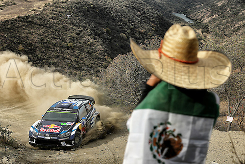 03.03.2016. Leon, Mexico. WRC rally of Mexico. Shakedown and SS1 and SS2.  Sebastien Ogier (FR) and Julien Ingrassia (FR) - Volkswagen Polo WRC