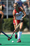02 October 2016: Boston's Grace Boston. The Duke University Blue Devils hosted the Boston University Terriers at Jack Katz Stadium in Durham, North Carolina in a 2016 NCAA Division I Field Hockey match. Duke won the game 2-1.