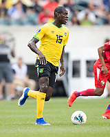 PHILADELPHIA, PA - JUNE 30: Je-Vaughn Watson #15 during a game between Panama and Jamaica at Lincoln Financial Field on June 30, 2019 in Philadelphia, Pennsylvania.