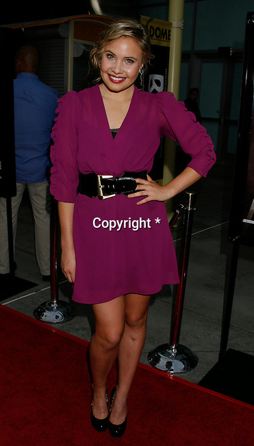 "HOLLYWOOD, CA. - September 03: Leah Pipes arrives at the Los Angeles premiere of ""Sorority Row"" at the ArcLight Hollywood theater on September 3, 2009 in Hollywood, California."