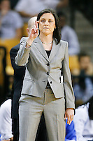 March 3, 2011: Memphis head coach Melissa McFerrin signals a play  during first half womens Conference USA NCAA basketball game action between the Memphis Lady Tigers and the Central Florida Knights at the UCF Arena Orlando, Fl.
