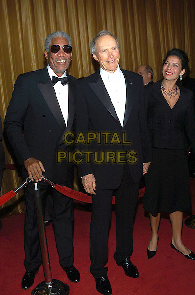 MORGAN FREEMAN, CLINT EASTWOOD & WIFE DINA.57th Annual DGA Awards held at the Beverly Hilton Hotel, Beverly Hills, California, USA, 29 January 2005..full length.Ref: ADM.www.capitalpictures.com.sales@capitalpictures.com.©Jacqui Wong/AdMedia/Capital Pictures .