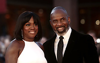 L'attrice statunitense Viola Davis (s) posa con il marito Julius Tennon (d) durante un red carpet alla 14^ Festa del Cinema di Roma all'Aufditorium Parco della Musica di Roma, 26 ottobre 2019.<br /> US actress Viola Davis (l) poses with her husband Julius Tennon (r) on a red carpet  during the 14^ Rome Film Fest at Rome's Auditorium, on 26 October 2019.<br /> UPDATE IMAGES PRESS/Isabella Bonotto
