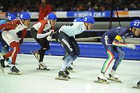 SCHAATSEN: HEERENVEEN: 14-12-2014, IJsstadion Thialf, ISU World Cup Speedskating, Mass Start, Bart Swings (#3 | BEL), ©foto Martin de Jong