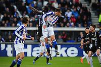 VOETBAL: HEERENVEEN: Abe Lenstra Stadion, SC Heerenveen - Vitesse, 21-01-2012, Eindstand 1-1, Anthony Annan (#20), Bas Dost (#12), ©foto Martin de Jong