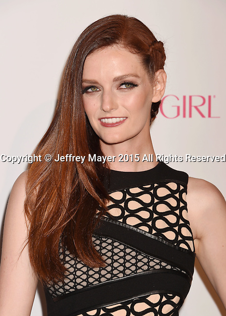 WEST HOLLYWOOD, CA - OCTOBER 12: Actress/model Lydia Hearst arrives at Cosmopolitan Magazine's 50th Birthday Celebration at Ysabel on October 12, 2015 in West Hollywood, California.