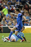 Albert Rusnak (55) Manchester City tackles Yossi Benayoun (30) Chelsea ..Manchester City defeated Chelsea 4-3 in an international friendly at Busch Stadium, St Louis, Missouri.