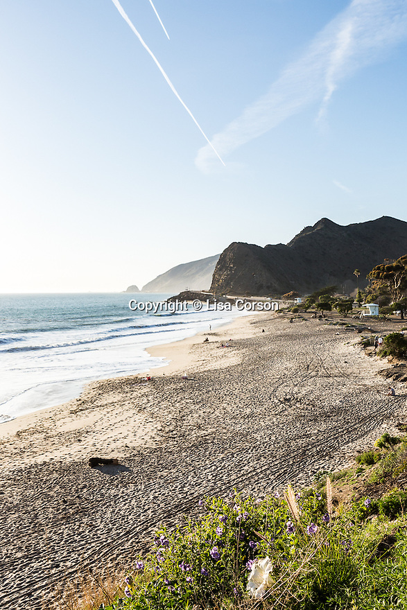 Highway 1 runs through Point Mugu State Park, Ventura County, California.