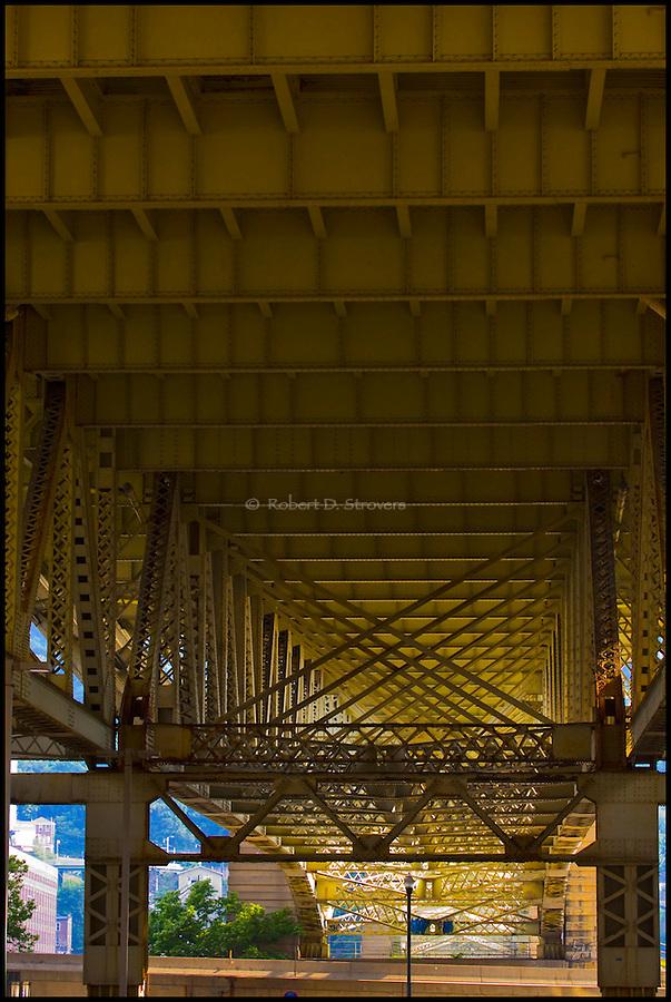 Pittsburghs Bridges - Under Liberty