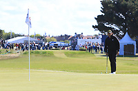 Gavin Green (MAS) on the 4th green during Round 4 of the Betfred British Masters 2019 at Hillside Golf Club, Southport, Lancashire, England. 12/05/19<br /> <br /> Picture: Thos Caffrey / Golffile<br /> <br /> All photos usage must carry mandatory copyright credit (© Golffile | Thos Caffrey)