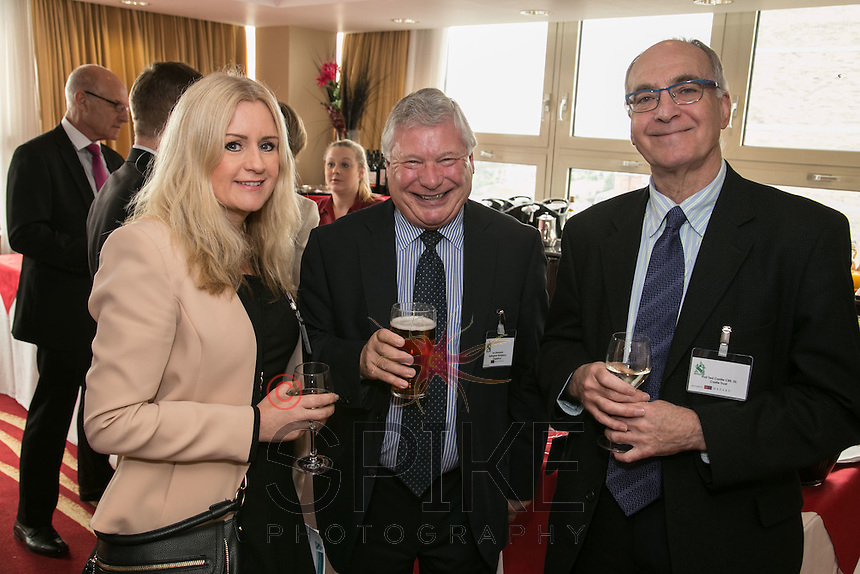 All smiles - from left Sally Gillorn, North Nottinghamshire Place Manager, LenSimmonds, Nottingham Workplace Chaplaincy and Professor Ted Cantle, CBE, DL of Castle Trust