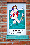 Old fashioned traditional seaside sign Harwich, Essex, England