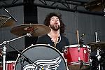 Chachi Riot of Pop Evil performs during the 2013 Rock On The Range festival at Columbus Crew Stadium in Columbus, Ohio.