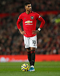 Manchester United's Marcus Rashford during the Premier League match at Old Trafford, Manchester. Picture date: 4th December 2019. Picture credit should read: Darren Staples/Sportimage