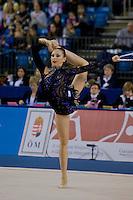 Daria Kondakova (RUS) performs with the hoop during the final of the 2nd Garantiqa Rythmic Gymnastics World Cup held in Debrecen, Hungary. Sunday, 07. March 2010. ATTILA VOLGYI