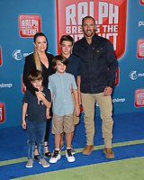 "LOS ANGELES, CA. November 05, 2018: Melissa Joan Hart, Mark Wilkerson & Family at the world premiere of ""Ralph Breaks The Internet"" at the El Capitan Theatre.<br /> Picture: Paul Smith/Featureflash"
