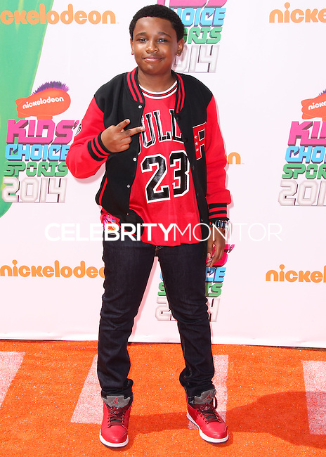 WESTWOOD, LOS ANGELES, CA, USA - JULY 17: Curtis Harris, Jr. at the Nickelodeon Kids' Choice Sports Awards 2014 held at UCLA's Pauley Pavilion on July 17, 2014 in Westwood, Los Angeles, California, United States. (Photo by Xavier Collin/Celebrity Monitor)