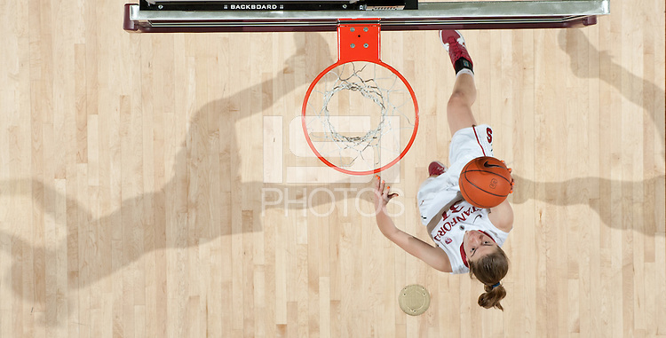 STANFORD, CA - March 3, 2010: Stanford Cardinal's Toni Kokenis during Stanford's 75-51 win over the University of California at Maples Pavilion in Stanford, California.