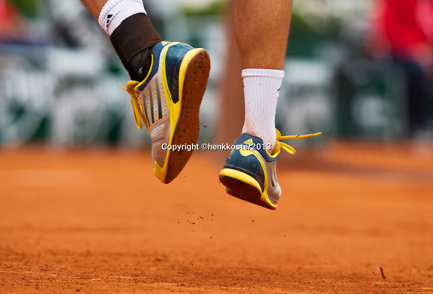30-05-13, Tennis, France, Paris, Roland Garros, Shoes,clay