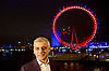 London New Year's Eve Fireworks 2016<br /> The Mayor of London's annual fireworks celebration takes place by the London Eye on The Queen's Walk, London, Great Britain <br /> 31st December 2016 / 1st January 2017 after Big Ben has chimed midnight.<br /> <br /> Sadiq Khan <br /> Mayor of London <br /> being interviewed by broadcast media before the fireworks <br /> <br /> Photograph by Elliott Franks <br /> Image licensed to Elliott Franks Photography Services