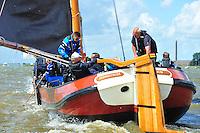 ZEILEN: LEMMER: Lemster baai, 10-08-2016, SKS skûtsjesilen, ©foto Martin de Jong