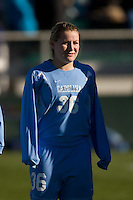 North Carolina Tar Heels midfielder Ashley Moore (36). The North Carolina Tar Heels defeated the Notre Dame Fighting Irish 2-1 during the finals of the NCAA Women's College Cup at Wakemed Soccer Park in Cary, NC, on December 7, 2008. Photo by Howard C. Smith/isiphotos.com