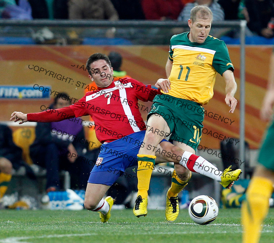 Zoran Tosic Soccer Football - 2010 FIFA World Cup - Group D - Australia v  Serbia 0f1e4f7427962
