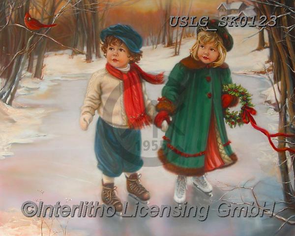 CHRISTMAS CHILDREN, WEIHNACHTEN KINDER, NAVIDAD NIÑOS, paintings+++++,USLGSK0123,#XK# ,Sandra Kock,victorian