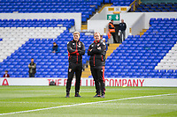 Bournemouth manager Eddie Howe and coach Simon Weatherstone ahead of the Premier League match between Tottenham Hotspur and Bournemouth at White Hart Lane, London, England on 15 April 2017. Photo by Mark  Hawkins / PRiME Media Images.