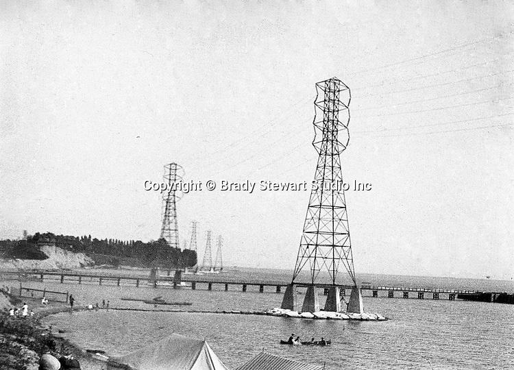 Niagara-by-the-Lake Ontario:  High Tension Electric Lines along the Lake Ontario shoreline - 1914
