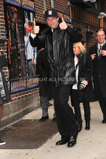 WWW.ACEPIXS.COM . . . . . <br /> January 7, 2014...New York City<br /> <br /> Randy Johnson arrives to tape an appearance on the Late Show with David Letterman on January 7, 2015 in New York City.<br /> <br /> Please byline: Kristin Callahan...ACEPIXS.COM<br /> Tel: (212) 243 8787 or (646) 769 0430<br /> e-mail: info@acepixs.com<br /> web: http://www.acepixs.com