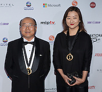 NEW YORK, NY - NOVEMBER 19: Hyun Chang Oh and Haewon Chin at the 40th International Emmy Awards in New York. November 19, 2012. © Diego Corredor/MediaPunch Inc. /NortePhoto