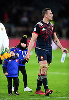 Louis Picamoles of France with his kids after the match. RBS Six Nations match between England and France on February 4, 2017 at Twickenham Stadium in London, England. Photo by: Patrick Khachfe / Onside Images