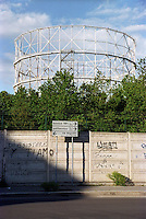 milano, quartiere bovisa, periferia nord. vecchi gasometri --- milan, bovisa district, north periphery.  old gasometer