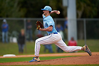 Indiana State Sycamores pitcher Austin Cross (36) during a game against the Dartmouth Big Green on February 21, 2020 at North Charlotte Regional Park in Port Charlotte, Florida.  Indiana State defeated Dartmouth 1-0.  (Mike Janes/Four Seam Images)