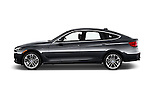 Car Driver side profile view of a 2017 BMW 3-Series-GT Sport 5 Door Hatchback Side View